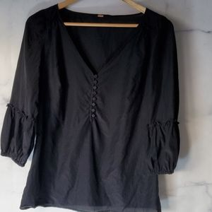 Free People Women's 3/4 Length Sleeve Blouse